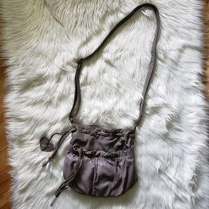 Accessorize Gray Leather Shoulder Bag / Crossbody